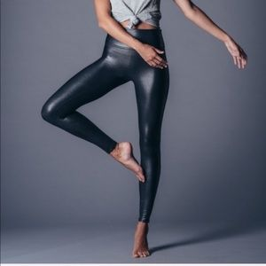 SPANX Faux Leather High Rise Leggings